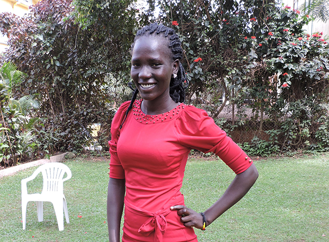 Judith Lokor, a third year student pursuing a Bachelors of Arts in Education Degree at Kyambogo University in Kampala, Uganda