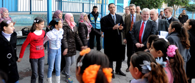 Tánaiste visits UNRWA school in Gaza. UN Photo
