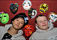 Young people from Celtic Youth Bray display the masks made for the One World Week Central Event, Dublin, 2010. have email permission from NYCI 27th Sept 2012