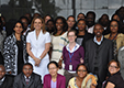 UNDP Associate Administrator, Rebecca Grynspan with UNDP Zambia team