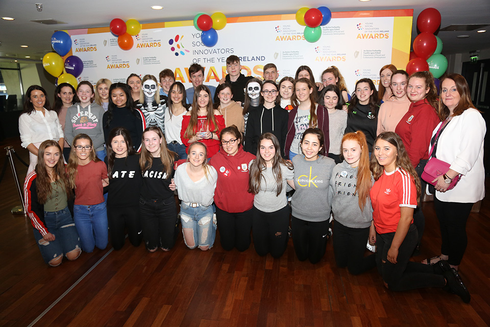 Largy College, Clones, Co. Monaghan, winners of the DFAT Global Citizens Award 2019 (Credit: Debbie Hickey)