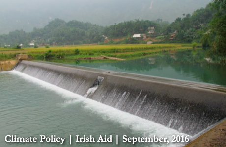An irrigation dam built under Programme 135 in Thanh Hoa province. Photo: Irish Aid